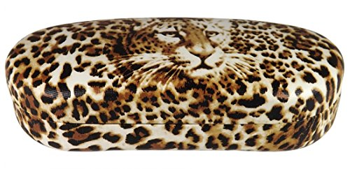 O'Meye Hard Shell Eyeglass & Sunglasses Case 3 Piece Set for Men & Women - (MS87 Leopard)