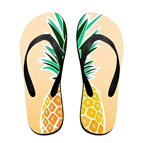 PTJHKET Women Slippers For Yellow Black The Men Flops Flip Pineapple Kids r1qwZnSrfx