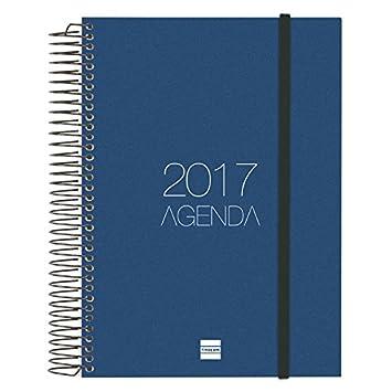 Finocam 742911017 - Agenda 2017, de espiral día página, goma elástica