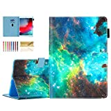 Dteck 10.5-Inch Folio Case for iPad Air 3rd Generation 2019 (A2152 /A2123 /A2153) and iPad Pro 2017 (A1701 /A1709) Tablet - Magnetic Shockproof Smart Stand Wallet Pretty Protective Cover Cover-Galaxy