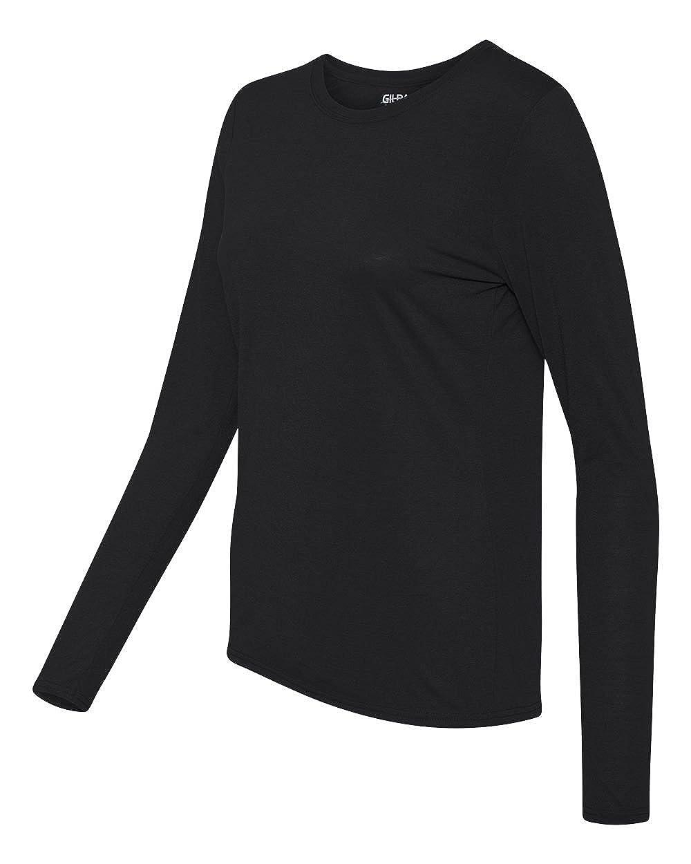 d4bcc8b155cf Gildan 42400L Ladies core performance long sleeve t-shirt at Amazon Women s  Clothing store  Athletic T Shirts