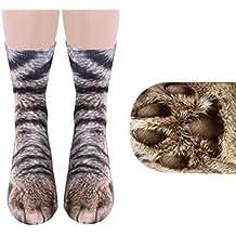 Quartly Women Man Adult Unisex Print Animal Paw Crew Socks Sublimated Winter Warm Socks