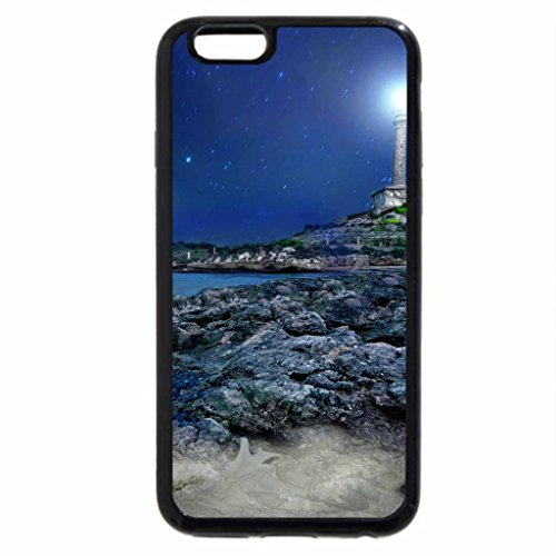iPhone 6S / iPhone 6 Case (Black) LIGHTED LIGHTHOUSE