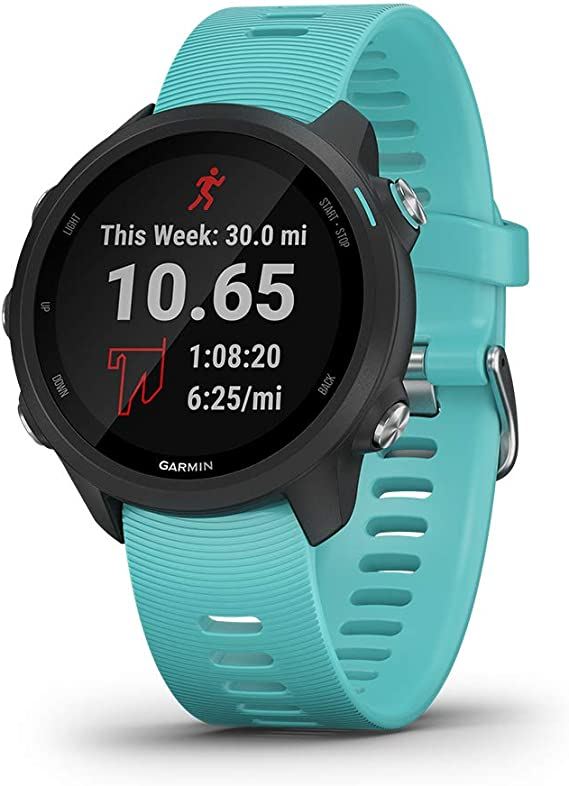 Garmin Forerunner 245 Music, GPS Running Smartwatch with Music and Advanced Dynamics, Aqua