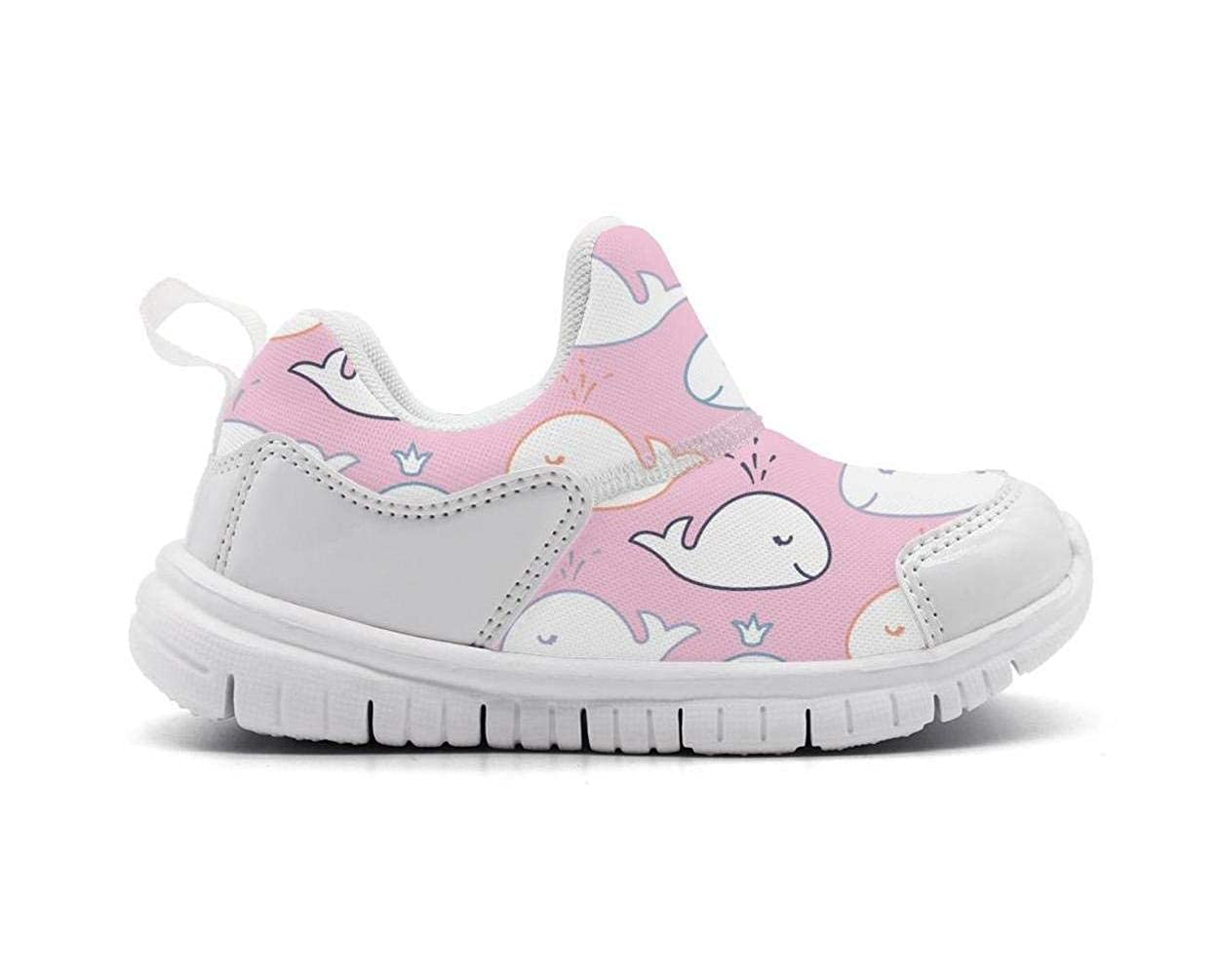 Babys Pink Whale Shark Unicorn Fashion Breathable Mesh Sneakers Running Shoe