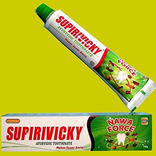 SIDDHALEPA SUPIRIVICKY Ayurvedic Herbal Non Fluoridated Toothpaste 110g x 6 ()