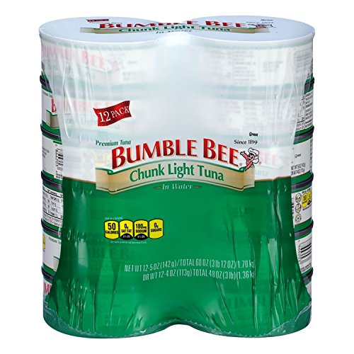 - BUMBLE BEE Chunk Light Tuna In Water, Wild Caught, High Protein Food, Gluten Free, Keto, Canned Food, 5oz Can (Pack of 10)