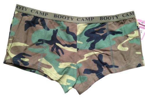 - CAMO - Woodland Camo - Military Gear - Camo Booty Shorts - size Small