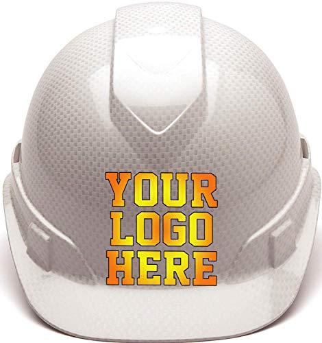 Custom Hard Hats - Personalized Logo - Pyramex Ridgeline Vented Cap Style 4 Point Ratchet Suspension from RUGGEDIM