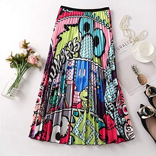 INS Cintura Alta Falda Plisada Mujer Primavera Verano Midi Faldas ...