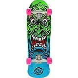 Santa Cruz Skateboards Rob Roskopp Mini Face 80s Blue/Green Cruiser Complete Skateboard - 8.025 x 26