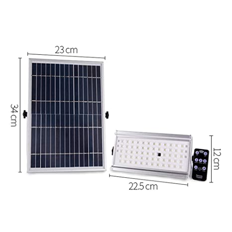 Solar Foco Proyector LED con control remoto, 12W 30W impermeable ...