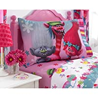 DreamWorks Trolls Microfiber Sheet Set with Pillow Case - Twin by Franco Manufacturing Co. Inc.