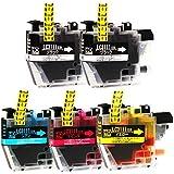 ブラザー用 LC3111-4PK +1BK 互換インクカートリッジ ICチップ付 【 LC3111 4色セット + 黒1本 /ブラック 2本/シアン マゼンタ イエロー 各1本 】 (全5本) ヨコハマトナーオリジナル