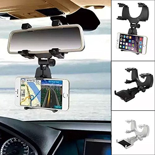Nicebee Top Quality Car Rearview Mirror Mount Holder Stand Cradle For Cell Phone GPS PDA MP4 Stable Mobile Phone Holders & Stands White
