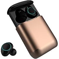 Auriculares Bluetooth Kingsky Auriculares Verdaderamente Inalámbricos Mini Auriculares In-Ear Auriculares sin cables con Control Táctil y Manos Libres (Gold)