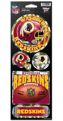 ins Prismatic Stickers, Team Color, One Size (Washington Redskins Nfl Team)
