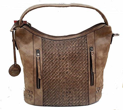 KENYA - Bolso de mujer con tira para colgar - marrón - 18341