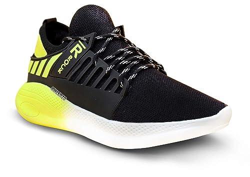 Buy Inklenzo Men's Black Yellow Running