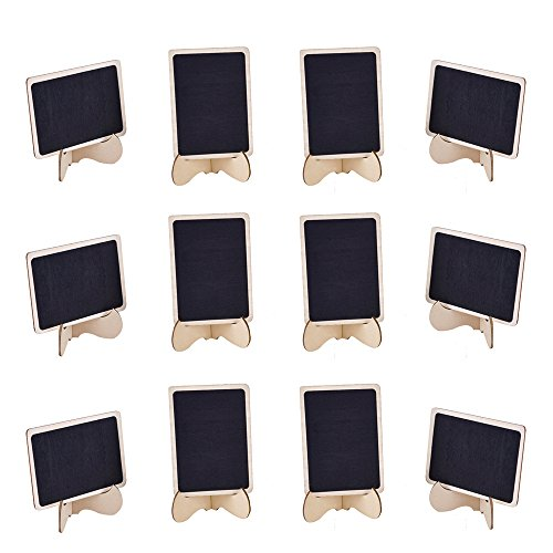 EBoot 12 Pack Mini Rectangle Chalkboards With Support Easel For Message  Board Signs, Weddings And Parties