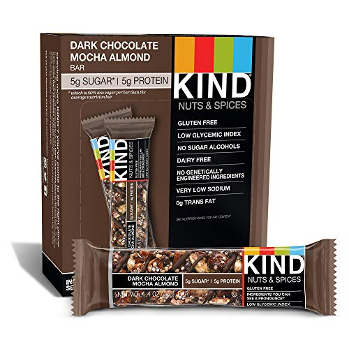 - KIND Bars, Mocha Almond, Gluten Free,