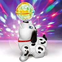 Zuffon Dancing Dog with Music Flashing Lights || Wonderful Music for Kids, Battery Operated| Light and Sound Musical Dancing Dog|Dog with Music Flashing Lights Multicolor
