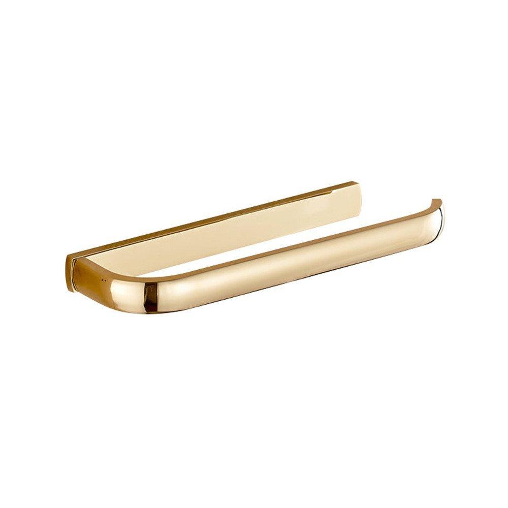 Yomiokla Bathroom Towel rack Tower hanger Towel Ring Attached is a European luxury air-copper gold towel