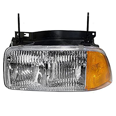 Drivers Composite Headlight Headlamp Replacement for GMC Pickup Truck SUV 16525157