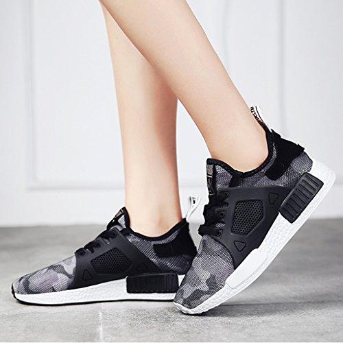 Respirant Hwf Occasionnels Femme Blanc Plat Maille Chaussures Simples D'été Bas Sport 36 Course Taille De Féminin Couleur Noir Femmes Printemps Épais 0nq07Fwxr