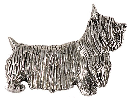 Terrier Dog Brooch Pin - Silky Terrier Dog Pewter Lapel Pin, Brooch, Jewelry, D470F