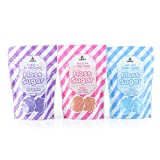 Cotton Candy 3 Flavor Floss Sugar Pack by Carnüs | Three 6oz. Resealable Pouches – Pink Vanilla, Grape, & Blue Raspberry Ready-to-Use Floss Sugar | Carnival Quality Cotton Candy
