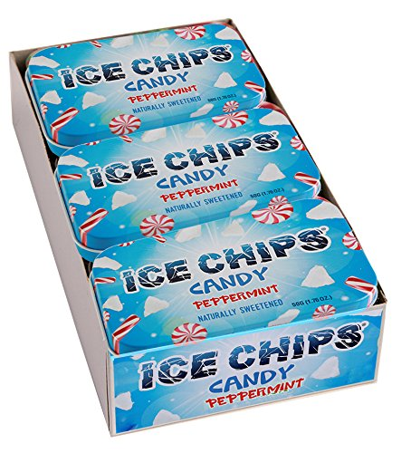 ICE CHIPS Xylitol Candy Tins (Peppermint, 6 Pack) - includes BAND as shown ()