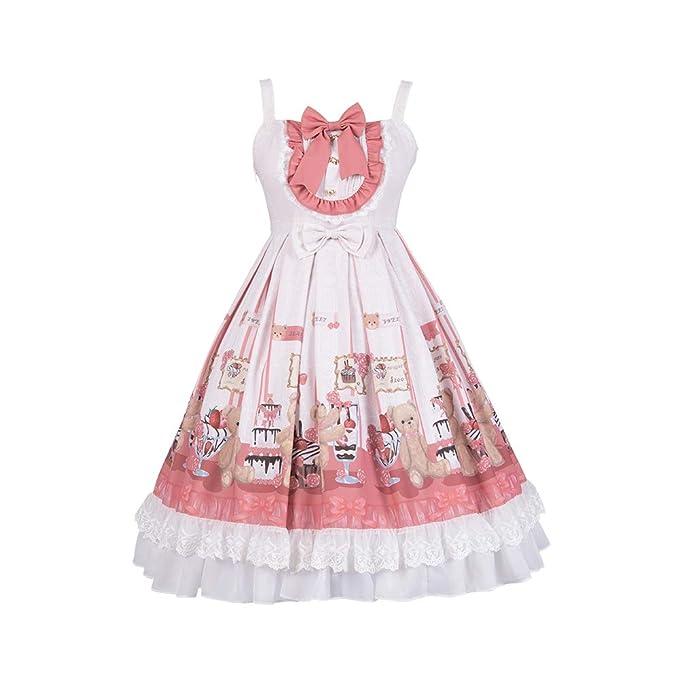 Amazon.com: Yingluofu Lolita Sweet Lolita Vestido de cosplay ...