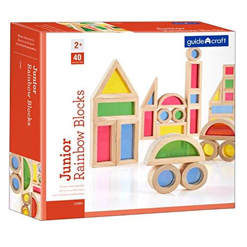 Guidecraft GD-3083 Jr. Rainbow Block (Pack of - Blocks Usa Rainbow Guidecraft