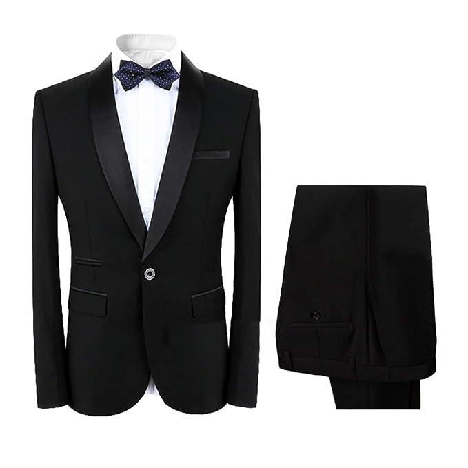 low priced bfa85 e8171 Anzug Herren 2 Teilig Slim Fit klassischer Business Slim Fit Anzug  Anzugjacke und Hose