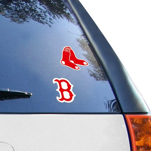 (MLB Boston Red Sox 2-Pack 4'' x 4'' Die-Cut Decals)