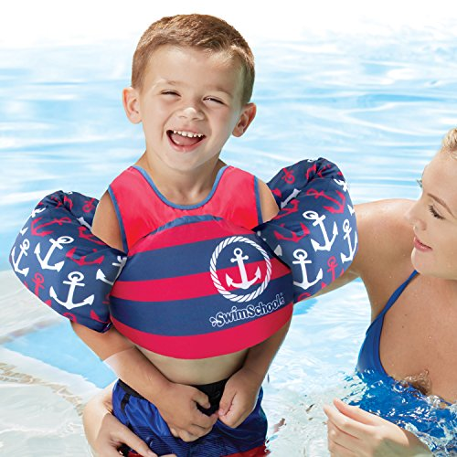 SwimSchool USCG Approved TOT Swimmer with Arm Floaties, Type V Life Jacket/PFD, Medium/Large, - Inner Suit Tube