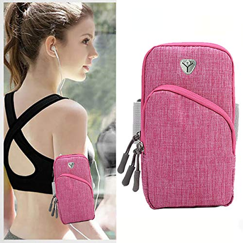 (XLTXZ Sports Arm Bag, Outdoor Arm Bag, Waterproof Arm Bag, Sports, Arm Bag, Running Double Pocket Universal Smartphone Waterproof Arm Pocket with Headphone Jack)