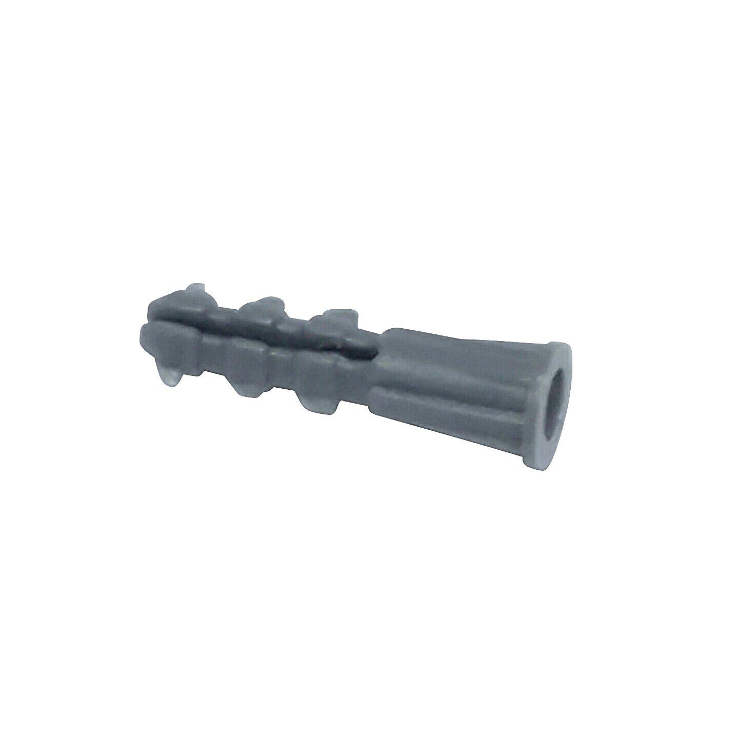 100 Pack #10-12 x 1 Premium Quality Blue Ribbed Plastic Anchors