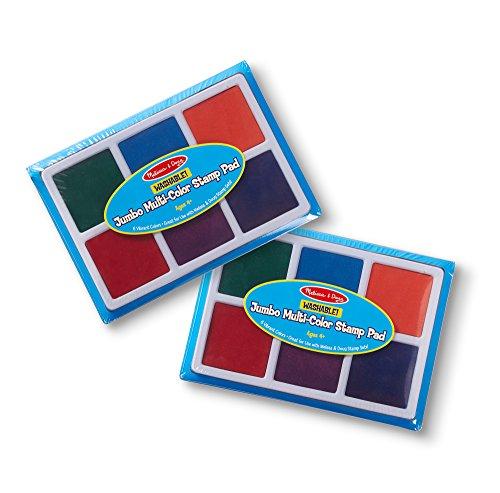 Melissa & Doug Jumbo Multi-Color Stamp Pad 2 Pack Art Supplies