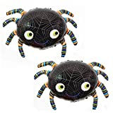OveeLando Set of 2 Spider Balloon Birthday Halloween Party Decoration