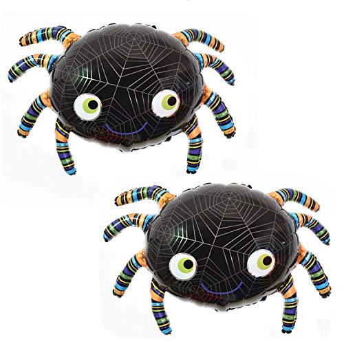 OveeLando Set of 2 Spider Balloon Birthday Halloween