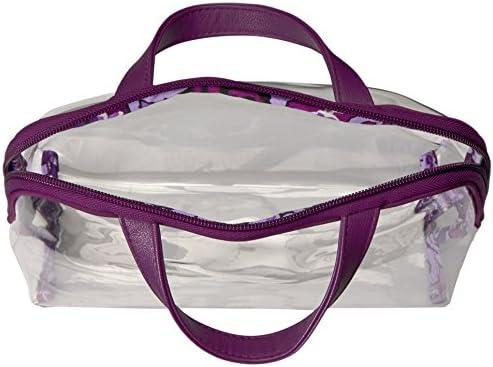 Vera Bradley Women's 4 Piece Cosmetic Makeup Organizer Bag Set