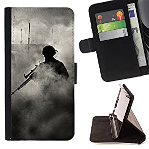 Jordan Colourful Shop - Soldier Smoke Sniper For Samsung Galaxy S4 IV I9500 - < Leather Case Absorci????n cubierta de la caja de alto impacto > -