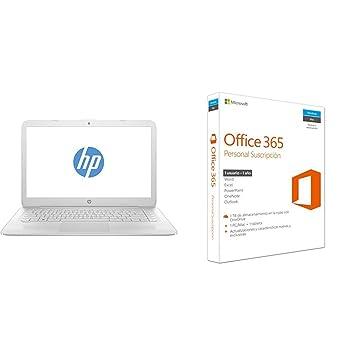 "HP Stream 14-ax003ns - Ordenador portátil español de 14"" HD (Intel Celeron"