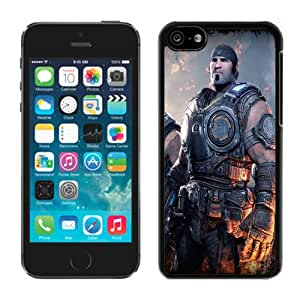 Durable and Unique Gears Of War 3 Soldiers Faces Gun Fire Marcus Fenix Anya Stroud Black iphone 5c Cell Phone Case