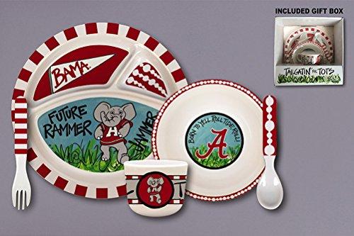 Tailgatin' For Tots Melamine Set (Alabama Crimson Tide)
