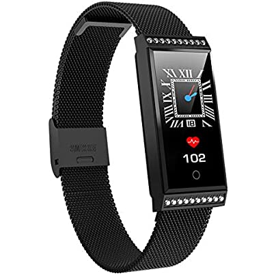 AZZSA Fashion Smart Bracelet Fitness Tracker Heart Rate Sleep Monitor Waterproof Sports Wristband Men s and Women s Bracelet Calorie Pedometer Estimated Price £51.69 -