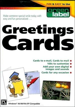 Green Label Greeting Cards - XP Compatible