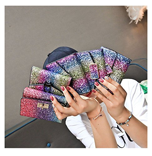 Short Clutch Small Shiny B Purse Women Wallet Glitter Square Kukoo Sequin Bifold Card holder qzt500
